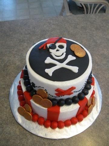 tortas de piratas para niños dos pisos
