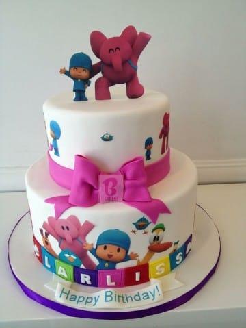 tortas de pocoyo para cumpleaños para niña