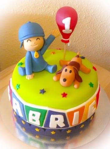 tortas de pocoyo para cumpleaños para niño