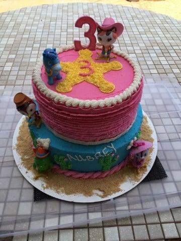 tortas de sheriff callie en crema
