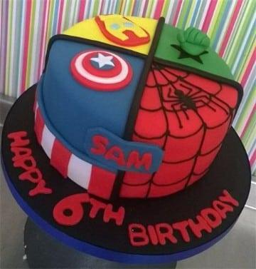 tortas decoradas de superheroes para cumpleaños