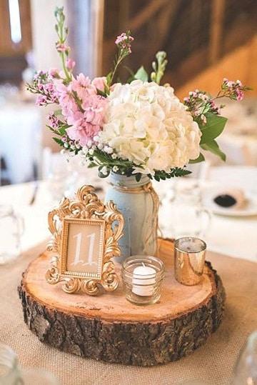 adornos vintage para fiestas centro de mesa