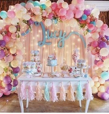 arcos de globos para cumpleaños adulto mujer