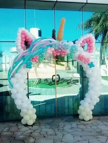 arcos de globos para cumpleaños de niña