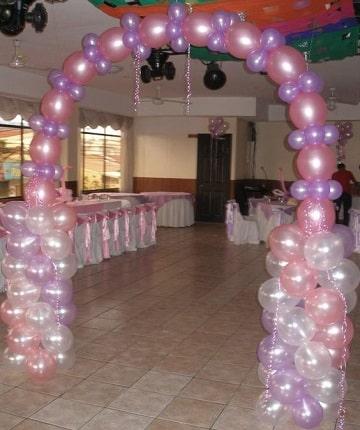 arcos de globos para cumpleaños diseños