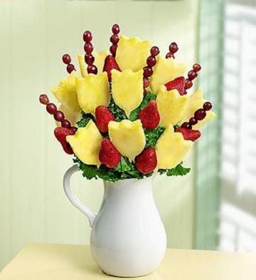 arreglos de frutas para bodas centros de mesa