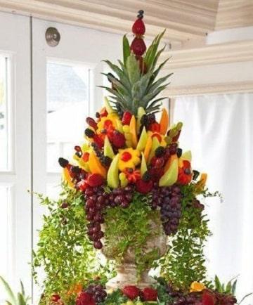 arreglos de frutas para bodas elegantes