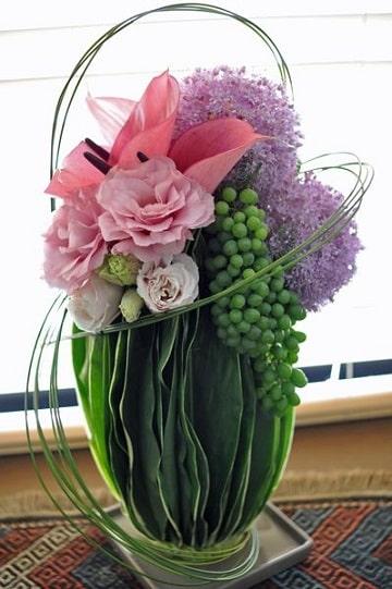 arreglos de frutas y flores para fiestas