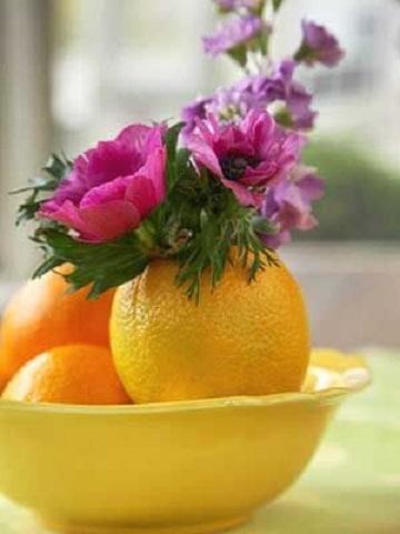 arreglos de frutas y flores pequeños