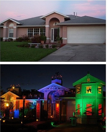 casas decoradas para halloween antes y despues