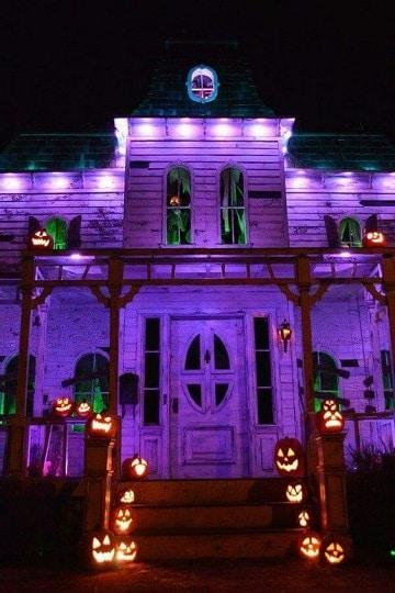 casas decoradas para halloween diseños