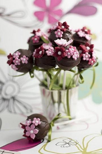 centros de mesa comestibles con chocolate