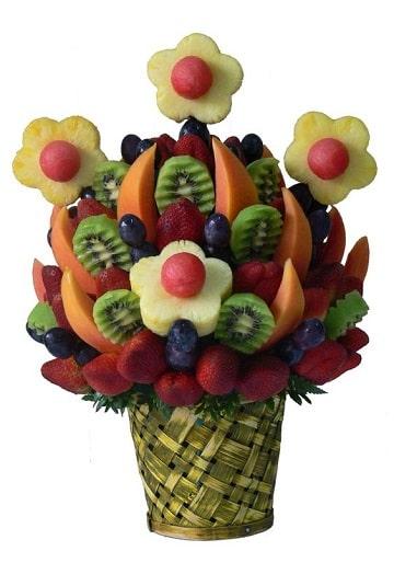 centros de mesa comestibles solo frutas