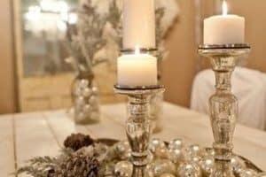 Originales y exclusivos centros de mesa con candelabros