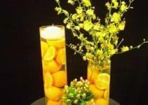 Hermosos y naturales centros de mesa con naranjas