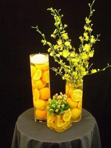 centros de mesa con naranjas diseños