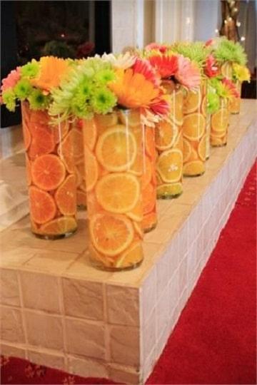 centros de mesa con naranjas ideas