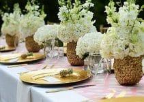 Originales y naturales centros de mesa con piñas