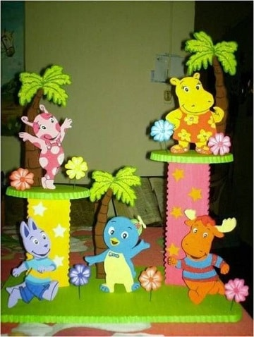 centros de mesa de backyardigans ideas