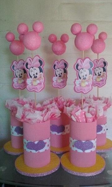 centros de mesa de mimi mouse de bebe