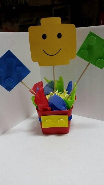 centros de mesa para tres años de lego