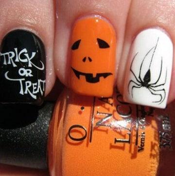 imagenes de uñas para halloween diseños