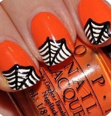 imagenes de uñas para halloween faciles