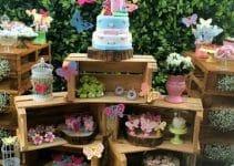Ideas para mesa de dulces con huacales reciclados