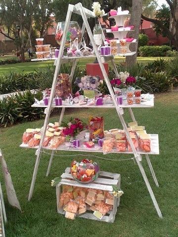 mesa de dulces con huacales ideas