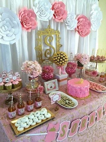mesa de dulces para quince años tema princesa