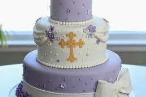 Algunos originales modelos de tortas de bautizo