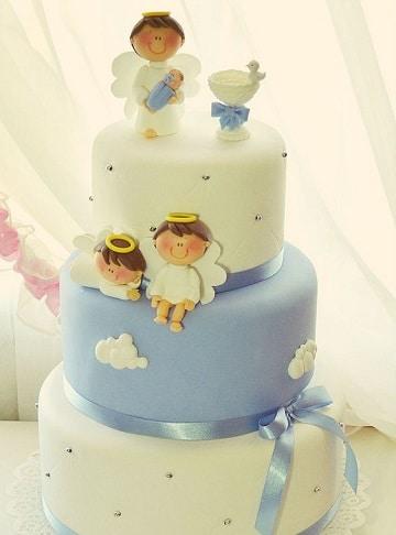 modelos de tortas de bautizo para niño