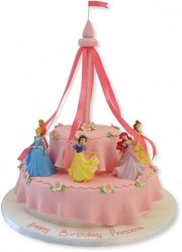 pasteles de princesas disney diseños