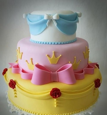 pasteles de princesas disney fondant