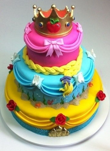 pasteles de princesas disney modernas
