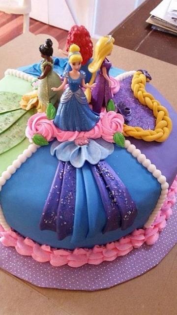 pasteles de princesas disney para cumpleaños