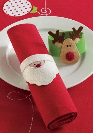 servilletas de papel navideñas de santa