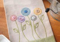 Hermosas imagenes en servilletas de tela decoradas