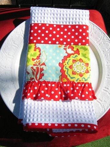 servilletas de tela decoradas manualidades