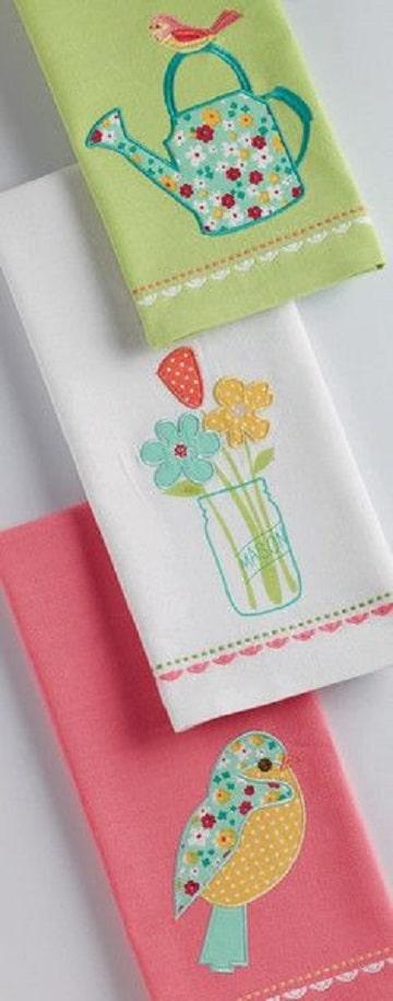 servilletas de tela decoradas para niños