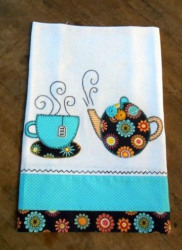 servilletas de tela decoradas para tomar cafe