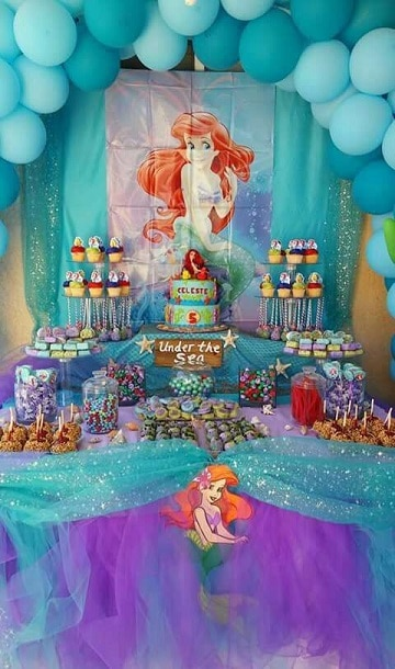 temas para cumpleaños de niña sitenita ariel