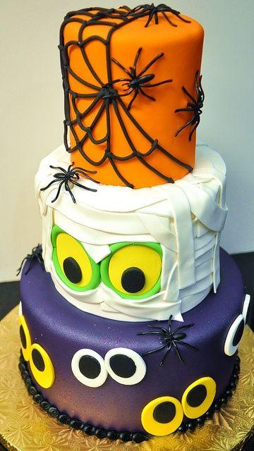 tortas decoradas de halloween para niños