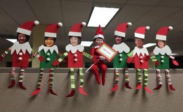 adornos navideños para oficina 2018