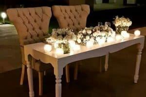 Hermosos y elegantes arreglos de mesa de novios