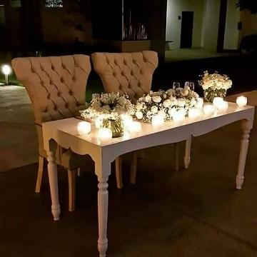 arreglos de mesa de novios con luces