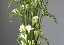Hermosos arreglos florales blancos ideales para eventos