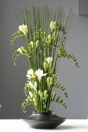 arreglos florales blancos sencillo