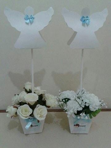 arreglos florales para bautizo para mesa