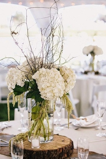 arreglos florales para matrimonio natural